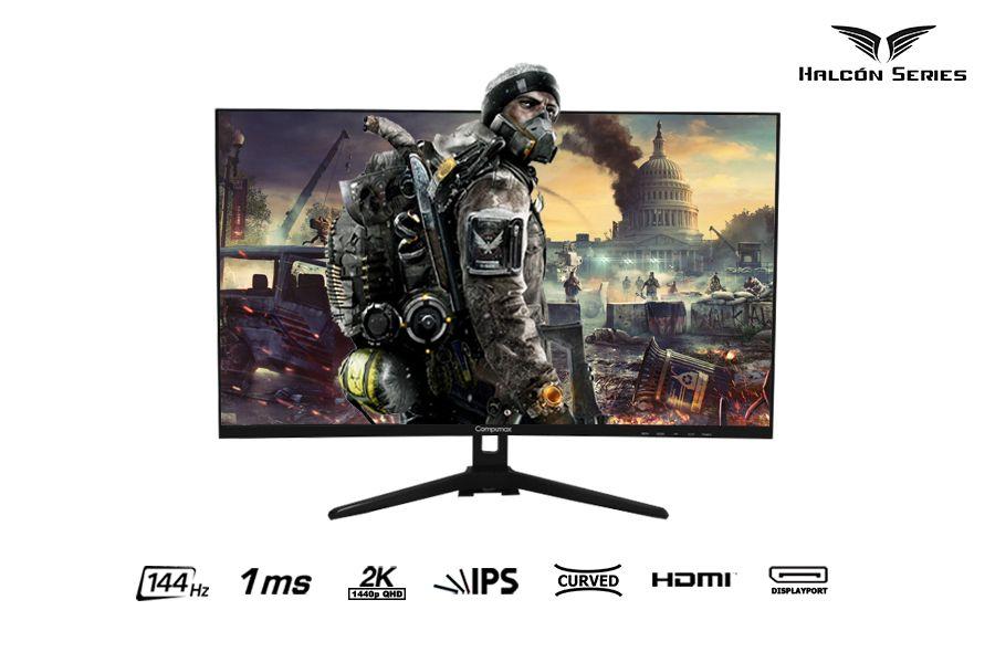 Monitor Curvo Gaming Compumax Halcón Series 32